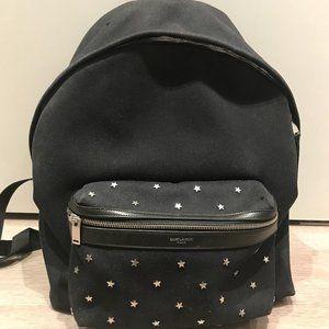 Saint Laurent Canvas Unisex Backpack Bag Black